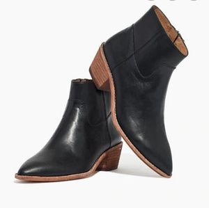 Madewell black leather Charley ankle boots
